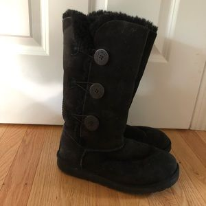 Ugg Bailey tall triplet boots - black, size 7